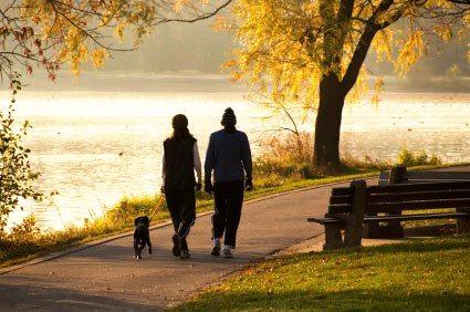 Post Care Advice Couple Walking